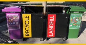 Recycling bins at Hillbrook