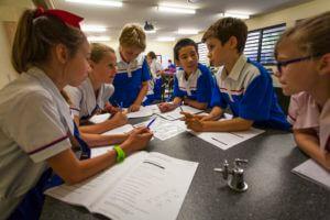 Kids working together at Hillbrook