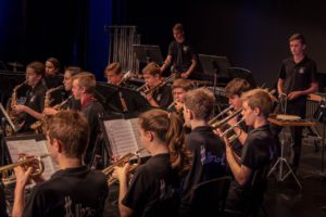 Brass section of Hillbrook orchestra
