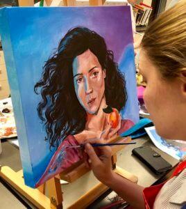 Portrait painting at Hillbrook
